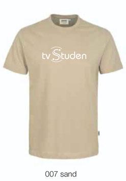 HAKRO 292 T-Shirt Classic 007 sand (weisses Logo)
