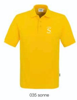 HAKRO 810 Poloshirt Classic 035 sonne (weisses Logo)