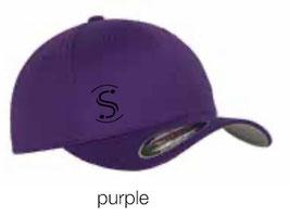 FLEXIT 6277 Fitted Baseball Cap purple (schwarzes Logo)