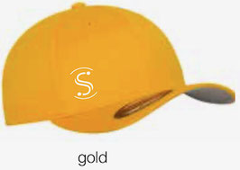 FLEXIT 6277 Fitted Baseball Cap gold (weisses Logo)