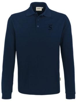 HAKRO 815 Polo-Shirt lang 034 tinte (schwarzes Logo)