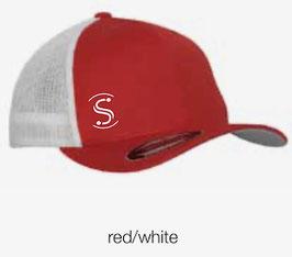 FLEXIT 6511T Mesh Trucker Cap red/white (weisses Logo)