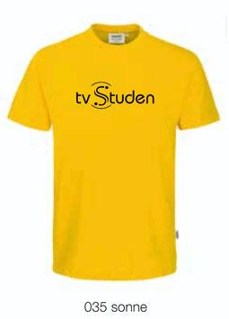 HAKRO 210 Kids-T-Shirt Classic 035 sonne (schwarzes Logo)