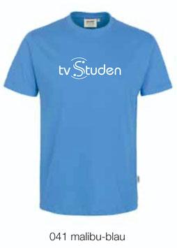 HAKRO 210 Kids-T-Shirt Classic 041 malibu-blau (weisses Logo)