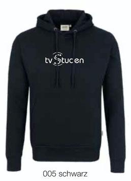 HAKRO 601 Kapuzen Sweatshirt 005 schwarz (weisses Logo)