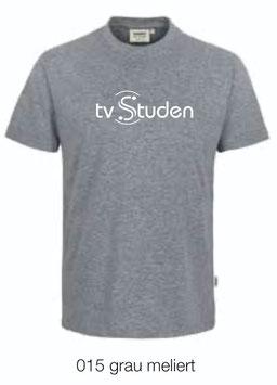 HAKRO 292 T-Shirt Classic 015 grau meliert (weisses Logo)