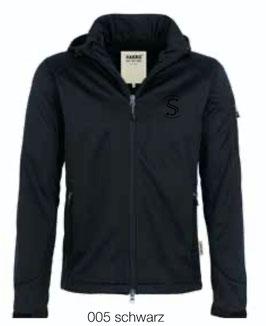 HAKRO 848 Softshelljacke 005 schwarz (schwarzes Logo)