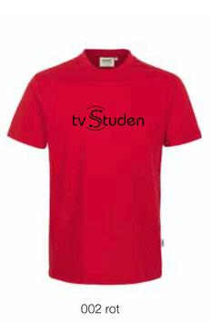 HAKRO 210 Kids-T-Shirt Classic 002 rot (schwarzes Logo)