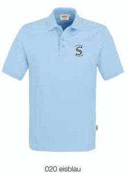 HAKRO 810 Poloshirt Classic 020 eisblau (schwarzes Logo)