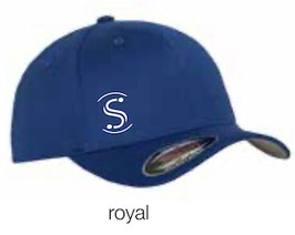 FLEXIT 6277 Fitted Baseball Cap royal (weisses Logo)
