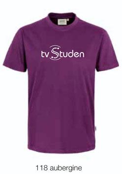 HAKRO 292 T-Shirt Classic 118 aubergine (weisses Logo)