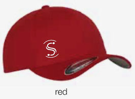 FLEXIT 6277 Fitted Baseball Cap red (weisses Logo)
