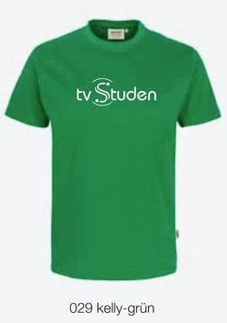 HAKRO 210 Kids-T-Shirt Classic 029 kelly-grün (weisses Logo)