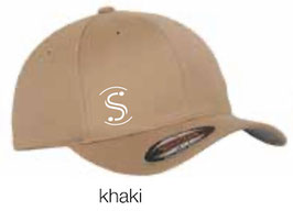FLEXIT 6277 Fitted Baseball Cap khaki (weisses Logo)