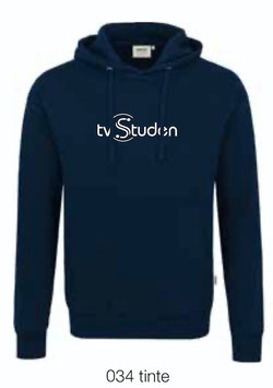 HAKRO 601 Kapuzen Sweatshirt 034 tinte (weisses Logo)