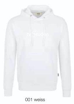 HAKRO 601 Kapuzen Sweatshirt 001 weiss (weisses Logo)