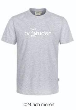 HAKRO 292 T-Shirt Classic 024 ash meliert (weisses Logo)