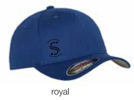 FLEXIT 6277 Fitted Baseball Cap royal (schwarzes Logo)
