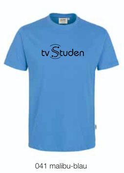 HAKRO 210 Kids-T-Shirt Classic 041 malibu-blau (schwarzes Logo)