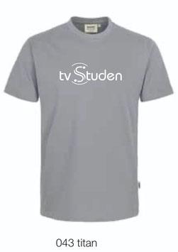 HAKRO 292 T-Shirt Classic 043 titan (weisses Logo)