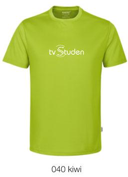 HAKRO 287 T-Shirt COOLMAX  040 kiwi (weisses Logo)