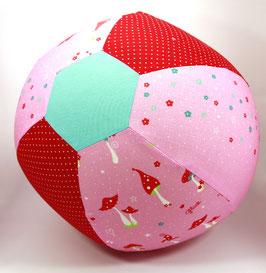 Ballonball gross Pilzli rot/rosa