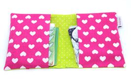 Hülle für Pixibücher pink/lemon Schmetterlinge