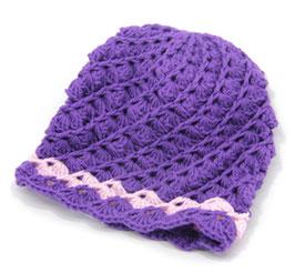 Häkelkäppchen violett/rosa