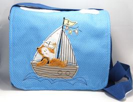 Spielgruppen- oder Kindergartentasche Fuchs im Boot