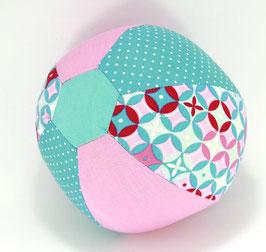 Ballonball klein mit Glöckchen rosa/mint