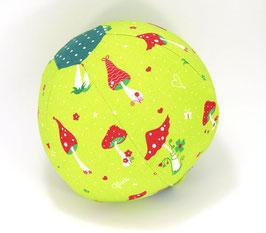 Ballonball klein mit Glöckchen Pilzli hellgrün