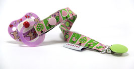 Nuggiband Bäumchen rosa/hellgrün
