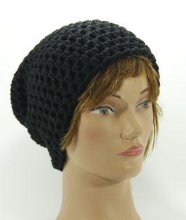 Merino Mütze schwarz