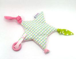 Spielstern rosa/mint/hellgrün/weiss
