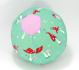 Ballonball klein mit Glöckchen Pilzli mint