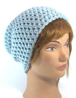 Merino Mütze eisblau