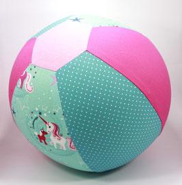Ballonball gross Einhorn pink/mint/petrol