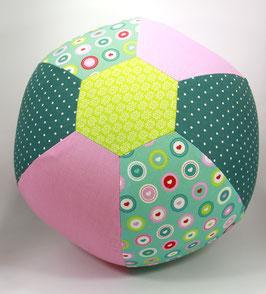 Ballonball gross Herzli rosa/petrol/mint