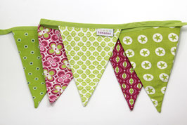 Wimpelkette pink/grün