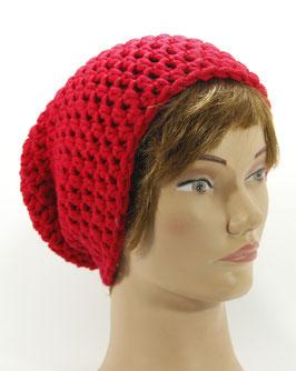 Merino Mütze rot