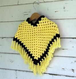 Poncho gelb/schwarz