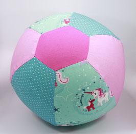 Ballonball gross Einhorn rosa/mint/pertrol