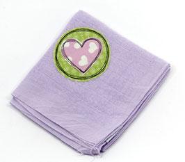 Nuscheli lila mit Herz