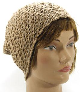 Merino Mütze dünn mit Pailetten