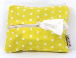 Feuchttücherhülle gelb gepunktet