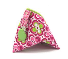 Nuggitäschli pink/hellgrün Kreise