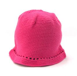 Sommerhütchen pink mit Löchli