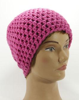 Merino Mütze pink