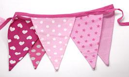 Wimpelkette pink/rosa