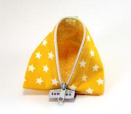 Nuggitäschli gelb mit Sternen